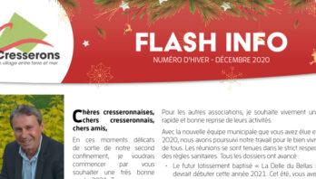 Consultez le « flash info » hiver 2020